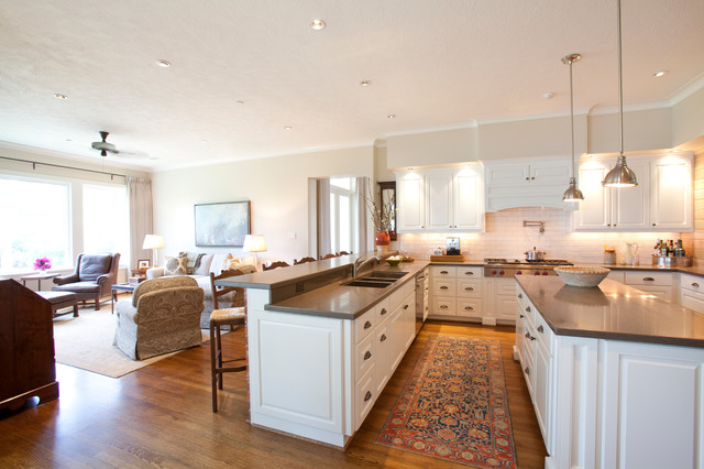 Acadian Style New Construction Transitional Kitchen