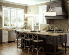 Accent with Weathered Finishes - Transtional and Rustic Kitchen traditional kitchen