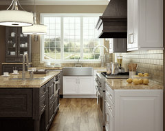 Accent with Weathered Finishes - Transtional and Rustic Kitchen traditional-kitchen