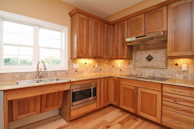 Accessible kitchen sink and cooktop - Traditional - Kitchen - raleigh ...