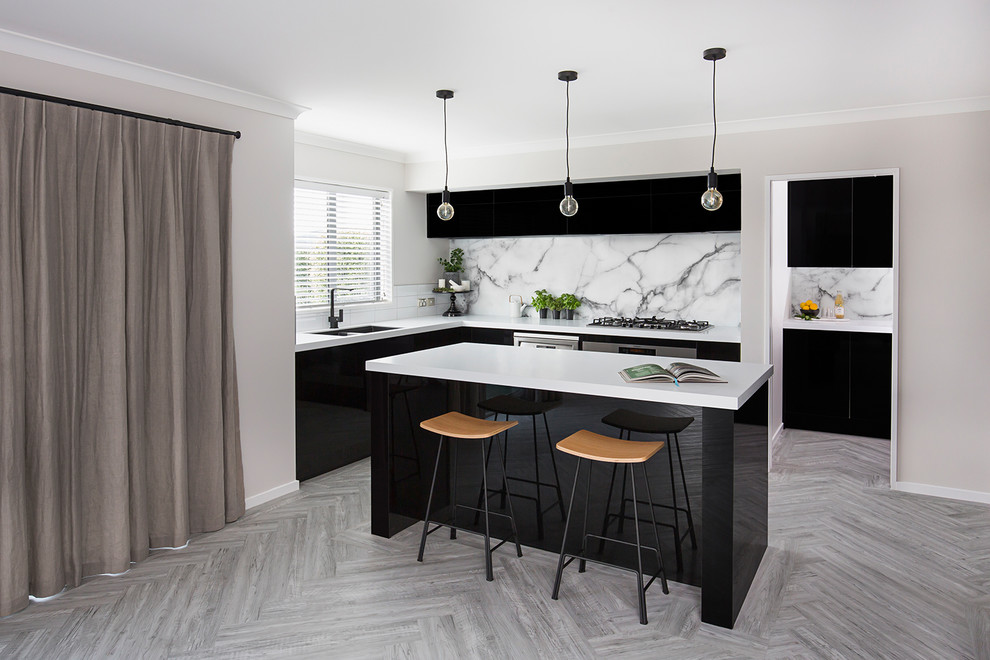 Acrylic Black Gloss Kitchen Modern Kitchen Christchurch By Panelform