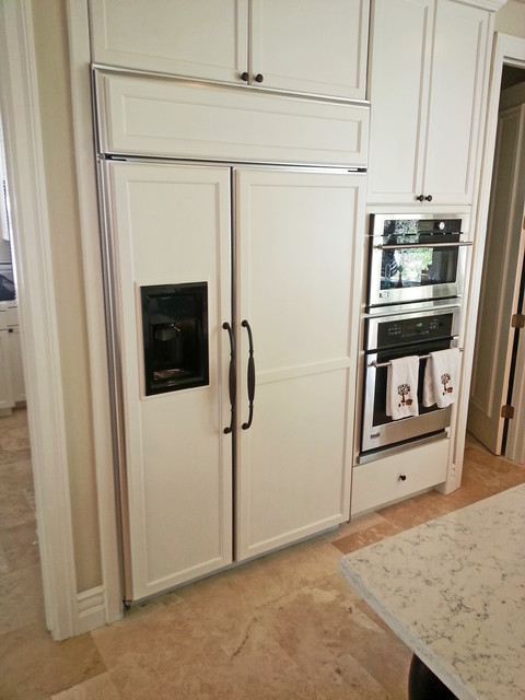 Adabaki custom refrigerator door panels & handles - Traditional ...
