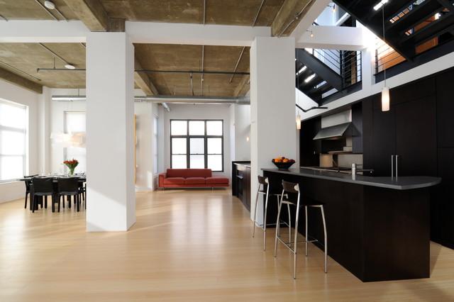 adams morgan loft apartment contemporary kitchen dc metro by wnuk spurlock architecture. Black Bedroom Furniture Sets. Home Design Ideas