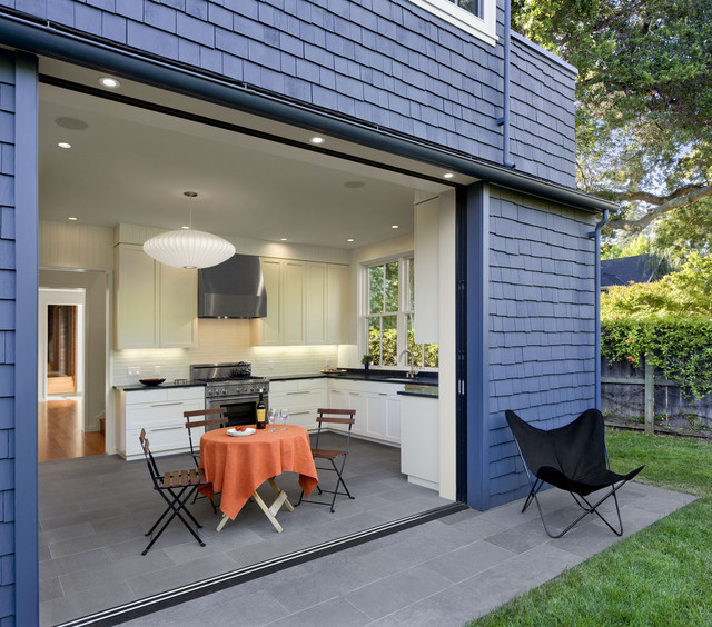 Addition Remodel Of Historic House In Palo Alto Contemporary Kitchen