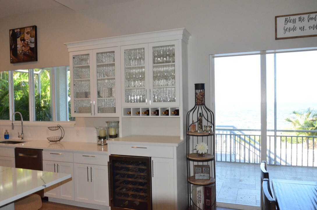 Additional Upper Cabinets, crown & Countertop added to existing Kitchen