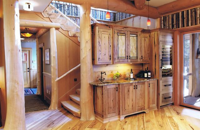 Adirondack Camp rustic-kitchen