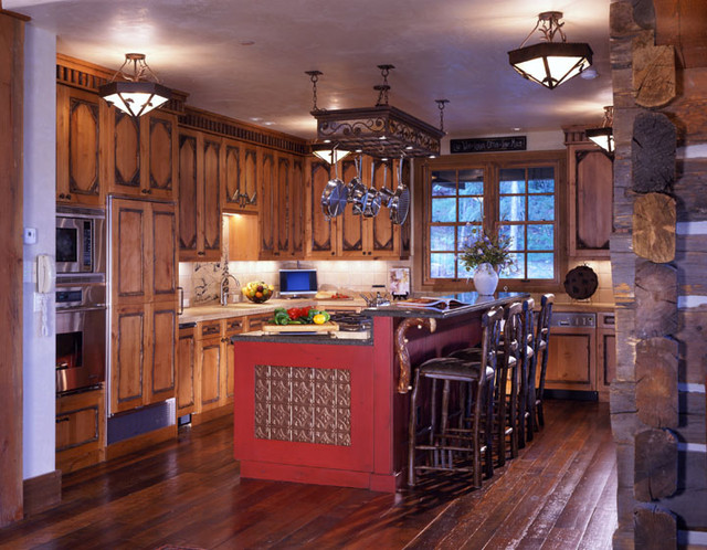 Adirondack Residence Crested Butte Traditional Kitchen