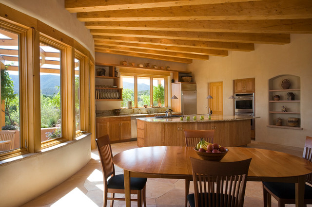 Adobe Home In New Mexico Southwestern Kitchen