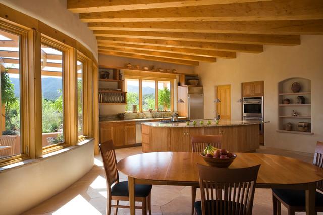 Adobe Home In New Mexico Southwestern Kitchen