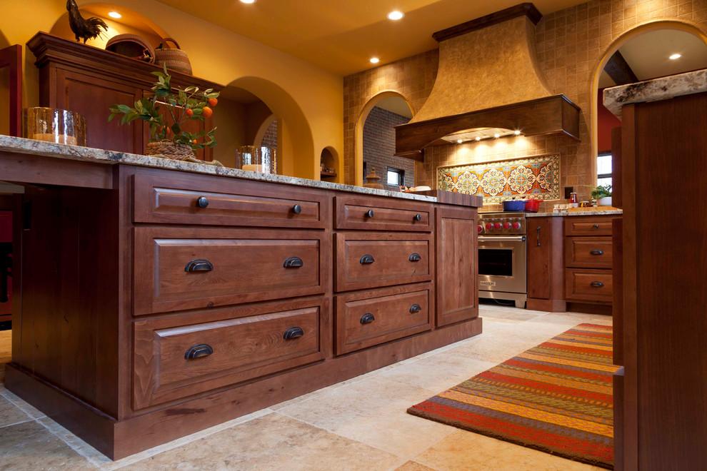 Adobe Kitchen - Rustic Beech - Southwestern - Kitchen ...