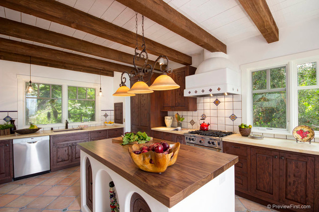 Interior Designers & Decorators. Adobe Style Beach House  mediterranean-kitchen