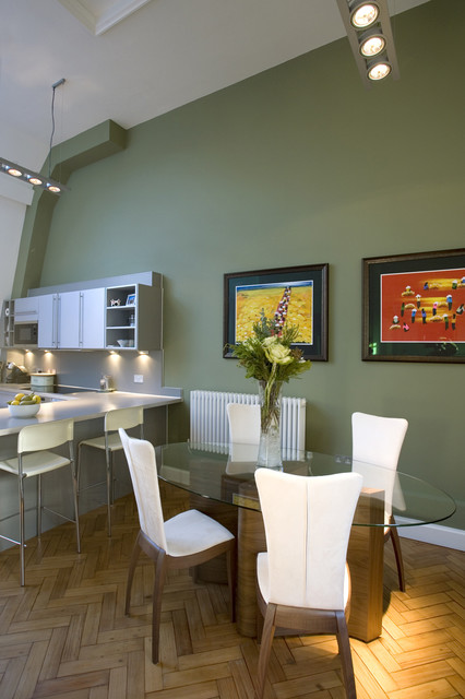 Olive Green Feature Wall House Beautiful