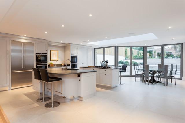 Advantage basements london transitional kitchen for Advantage basements