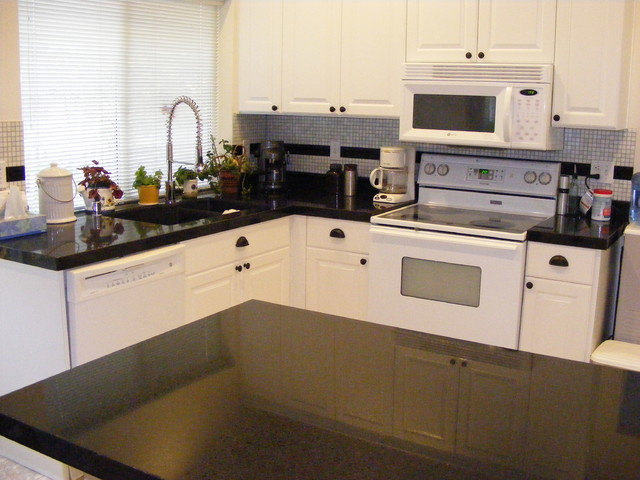 After Cabinet Refacing and Counters - Traditional - Kitchen - seattle ...