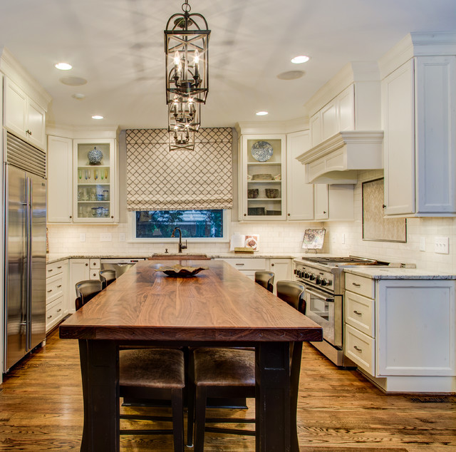 After traditional kitchen raleigh by collins for Collins design build