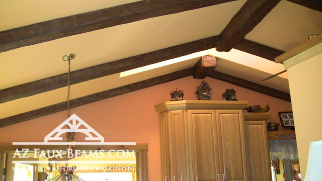 After Faux Beams Installation - Traditional - Kitchen - other metro - by AZ Faux Beams