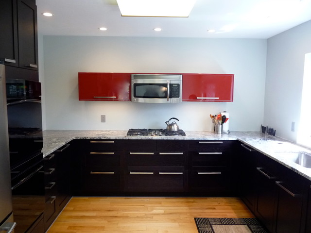 After  Kitchen renovated contemporary-kitchen