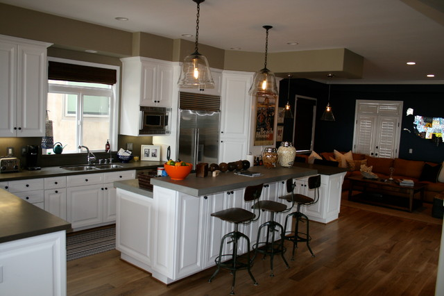 After photo ~ kitchen overview toward family room, Hermosa Beach Beachfront Resi traditional-kitchen