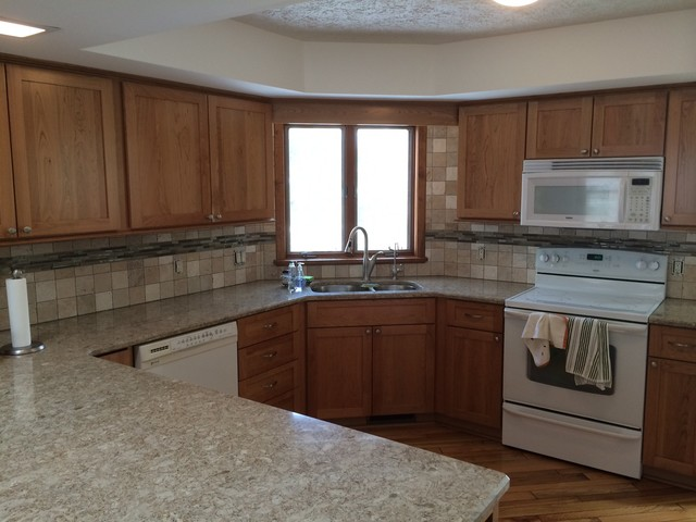 After Shaker Cherry Door In Autumn Finish Rochester Ny Traditional Kitchen By Nu Look