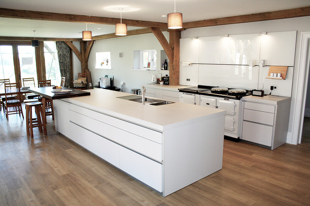 Aga style ovens in a bulthaup kitchen modern küche wiltshire
