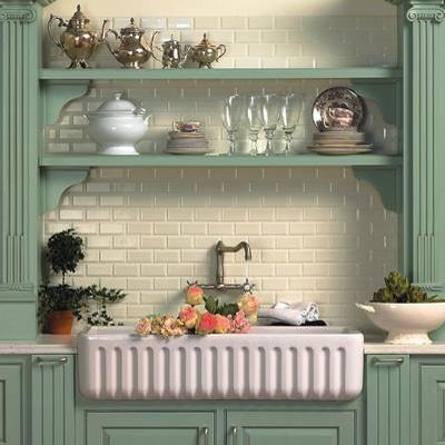 AG&M Tile traditional-kitchen