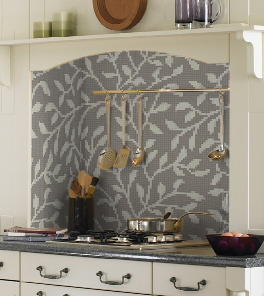 Agrestic Winter Repeating Pattern traditional-kitchen