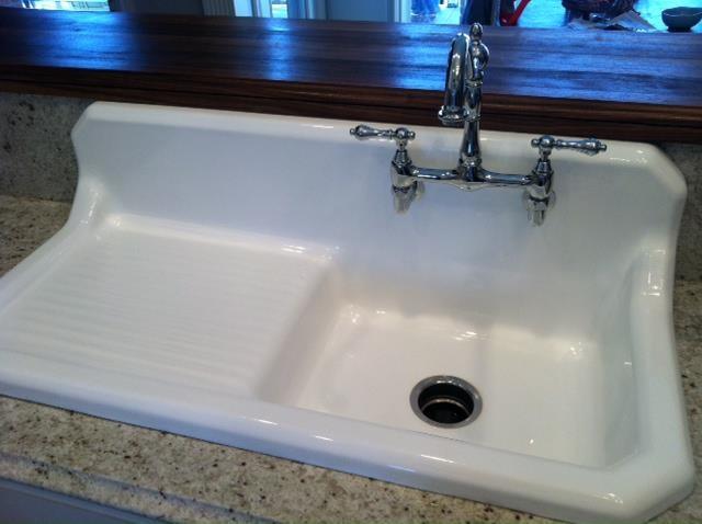Aimee- Restored kitchen sink and utility sink - Kitchen - nashville ...