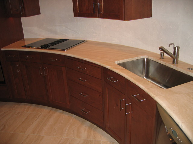 Alabastrino Travertine Kitchen contemporary-kitchen