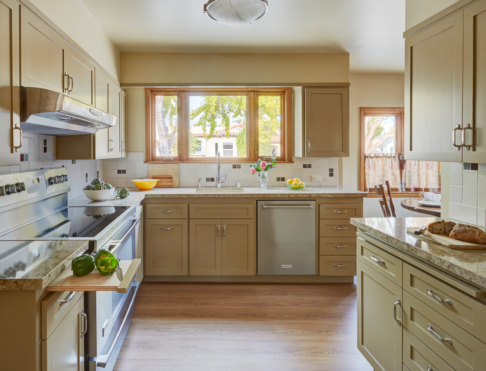 Alameda Spanish Bungalow Kitchen Reface Transitional Kitchen San Francisco By Custom Kitchens By John Wilkins Inc Houzz