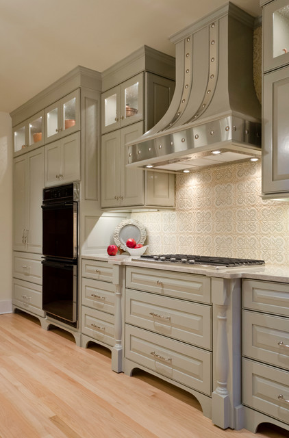Alamo heights galley kitchen traditional kitchen for Traditional galley kitchen designs