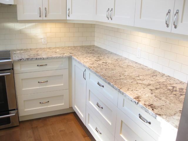 Superior Alaska White Granite Traditional Kitchen