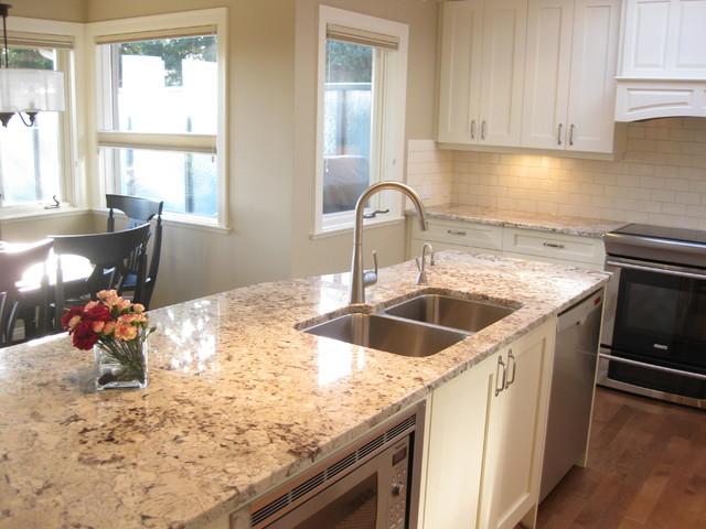 Granite Kitchen Alaska White Www Genialfoto Com