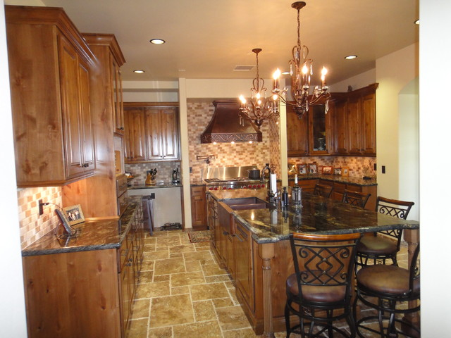 Alder Kitchen Cabinets traditional-kitchen