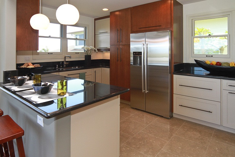 Example of a trendy kitchen design in Hawaii