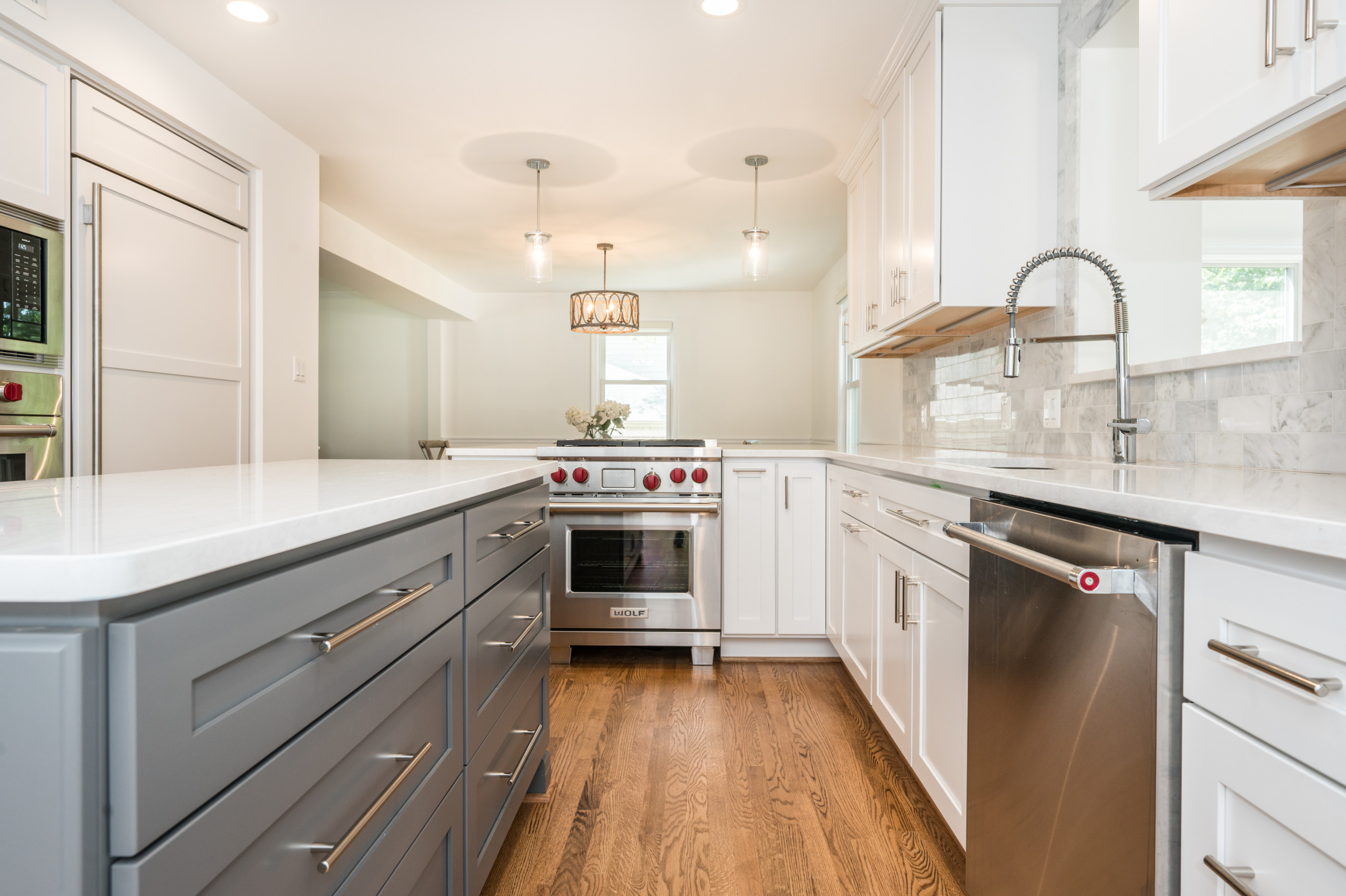 Alexandria Contemporary Kitchen Remodel with Clean White Features