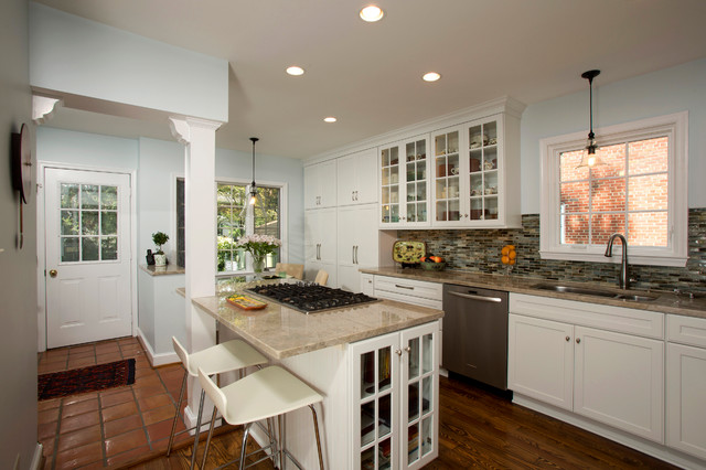 Alexandria Cozy White Kitchen Transitional Kitchen Dc Metro By Braswell Design Build