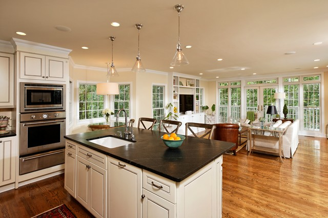Kitchen Family Room Design Alexandria Residence  Traditional  Kitchen  Dc Metro .