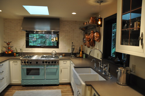 Alki Cottage eclectic kitchen design by Ventana Construction LLC