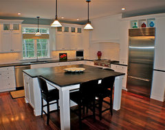 All white kitchen eclectic-kitchen
