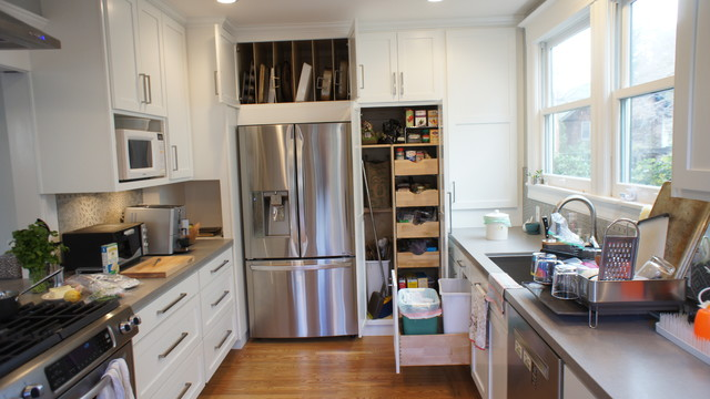 Alley job shabby chic style kitchen san francisco for Alley kitchen designs