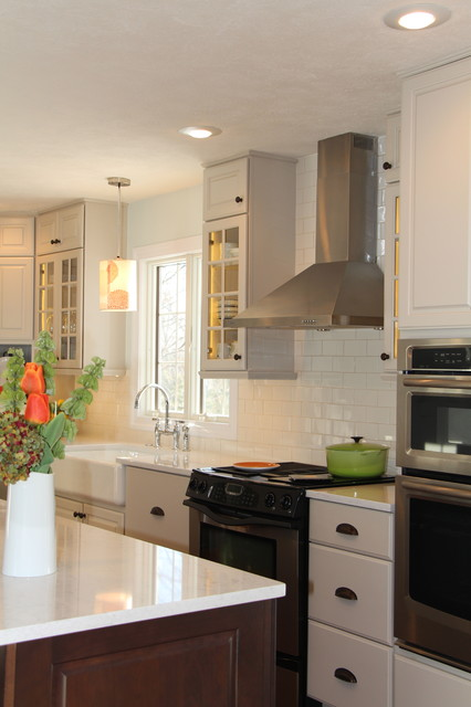 Almost White - Traditional - Kitchen - omaha - by Merritt ...