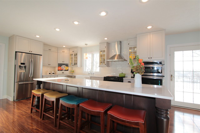 Almost White traditional-kitchen