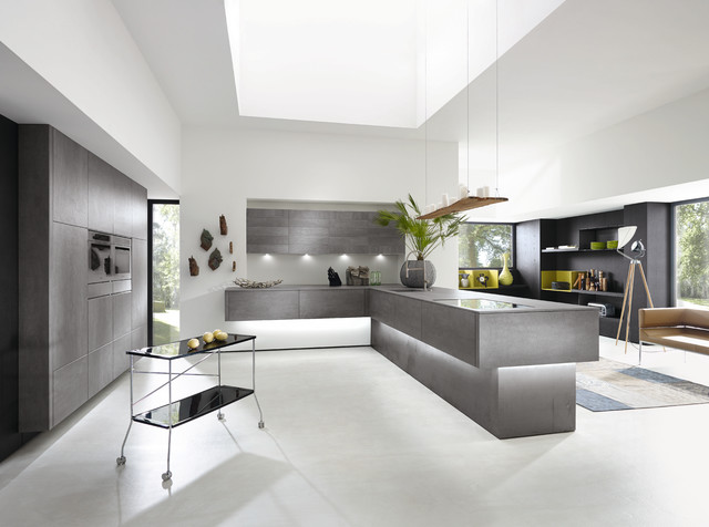 Alno kitchen in concretto concrete front modern kitchen