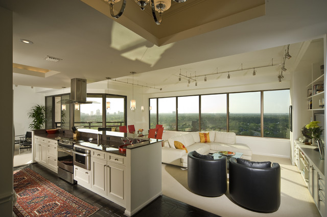 Brookhaven kitchen remodel modern kitchen houston by cabinet innovations - Kitchen design houston ...