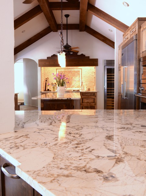 Alpinus granite mediterranean kitchen dallas by for Alpinus granite