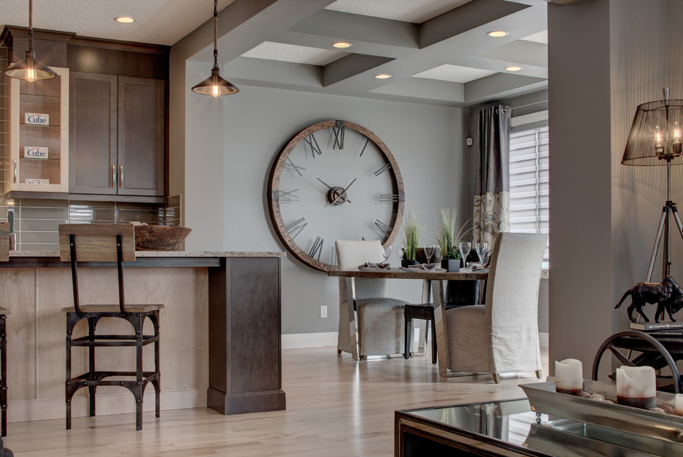 Alquinn Show Homes Featuring Divine Flooring Eclectic Kitchen Calgary By Divine Flooring