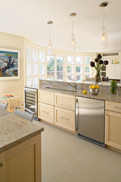 Amagansett Beach Retreat contemporary kitchen