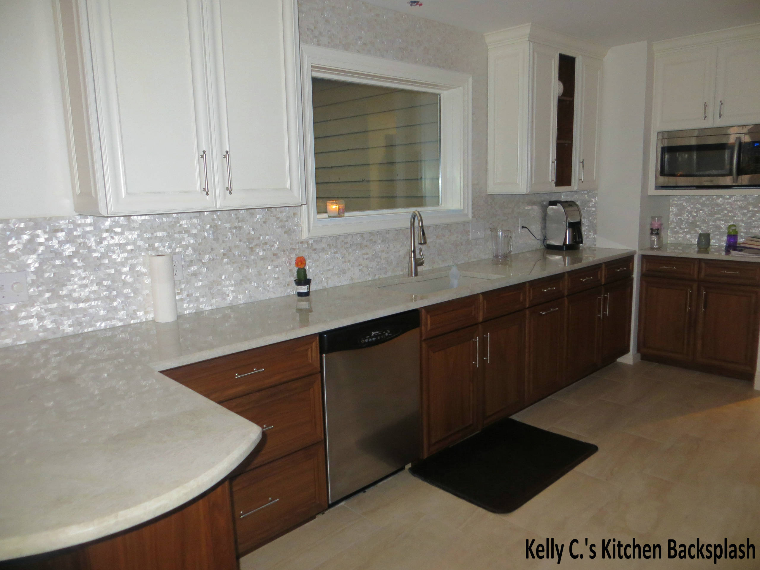 - Mother Of Pearl Backsplash Houzz