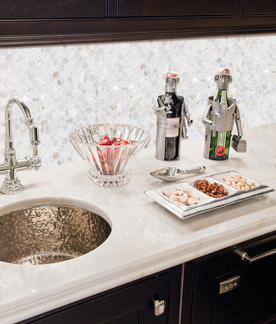 Amazing Backsplash With Mother Of Pearl Tile Pem0028 Traditional Kitchen San Diego By Builderelements Houzz Ie