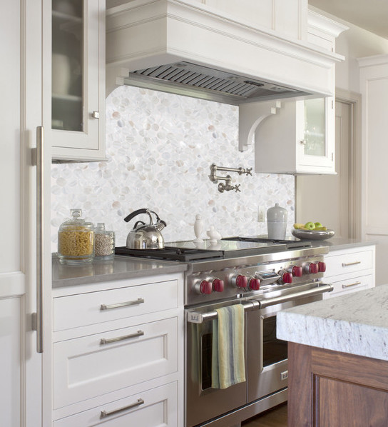 Amazing Backsplash With Mother Of Pearl Tile Pem0028